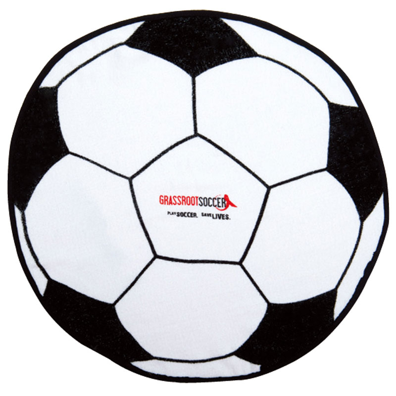 SOCCER BALL SHAPED SPORTS TOWEL