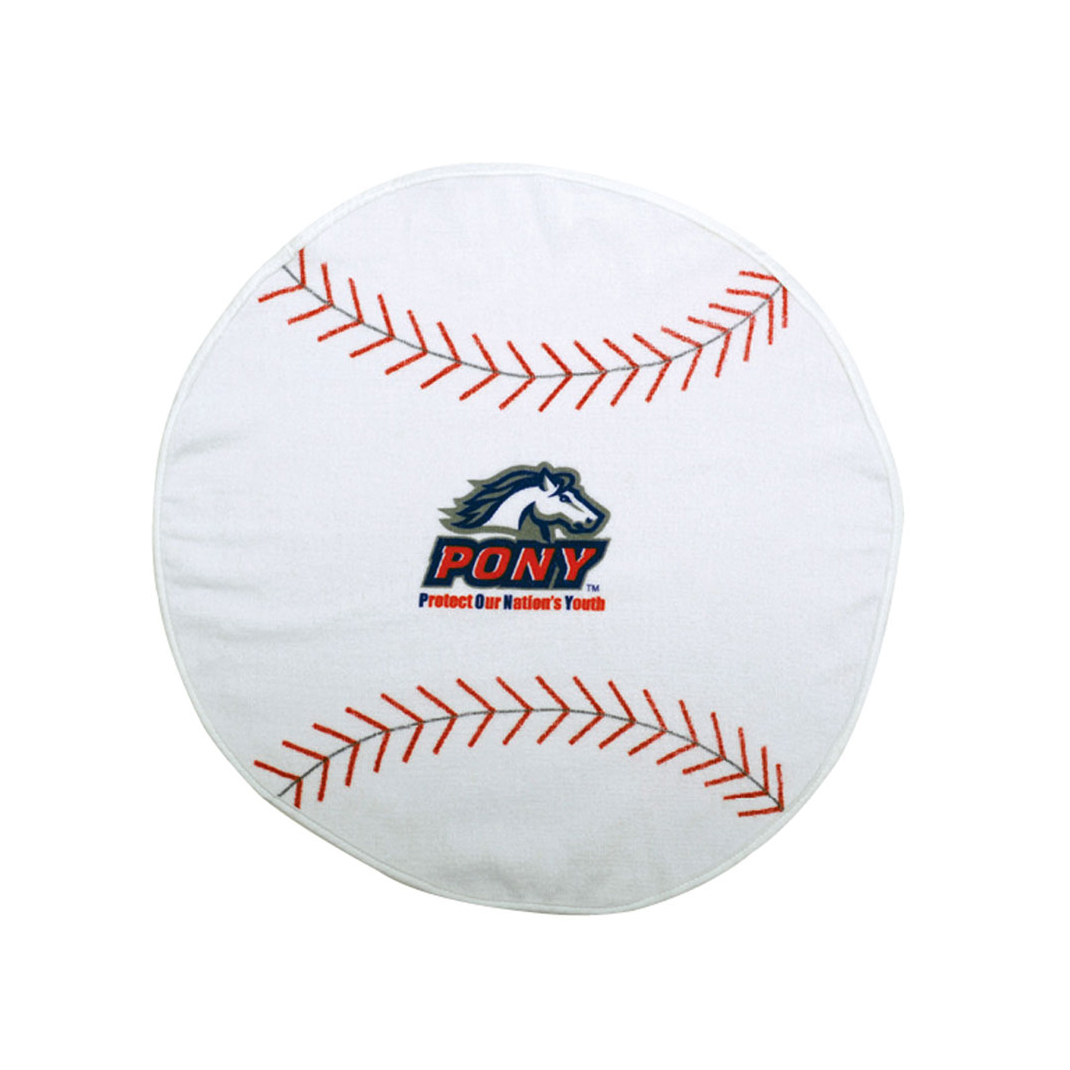BASEBALL SHAPED SPORTS TOWEL